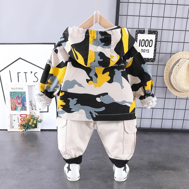 ストリート 迷彩 コットン シャツ パンツ アウター 三点セット 男の子 子供服