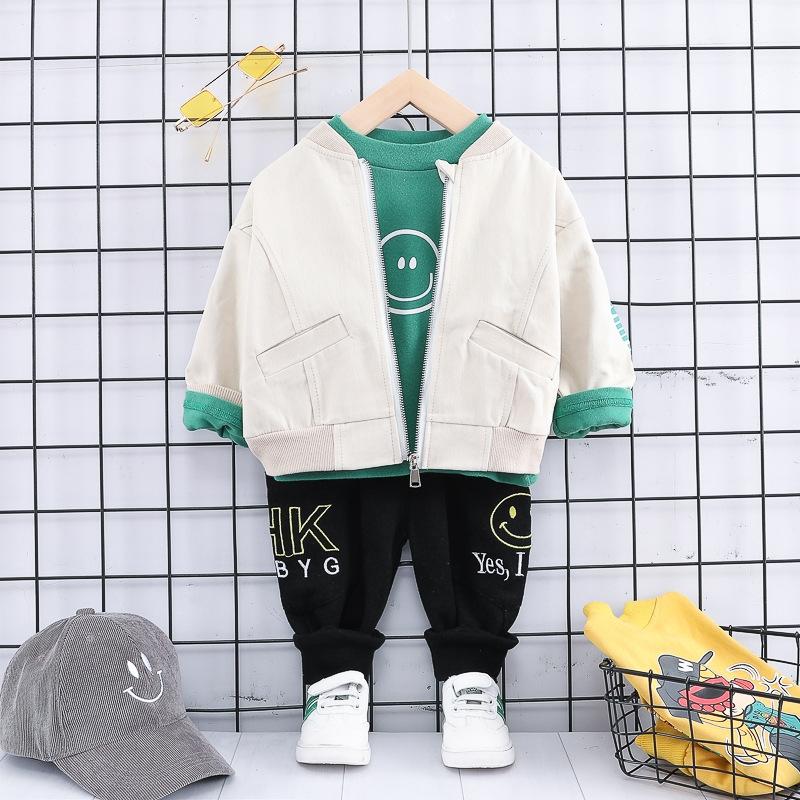 ハンサム カートゥーン シャツ パンツ アウター 三点セット 男の子 子供服