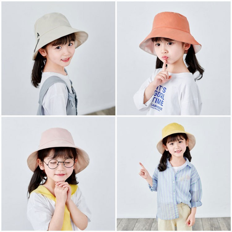 韓流スタイル♥ スタイリッシュ コットン 無地  軽さ 薄手 子供雑貨 帽子 子供雑貨