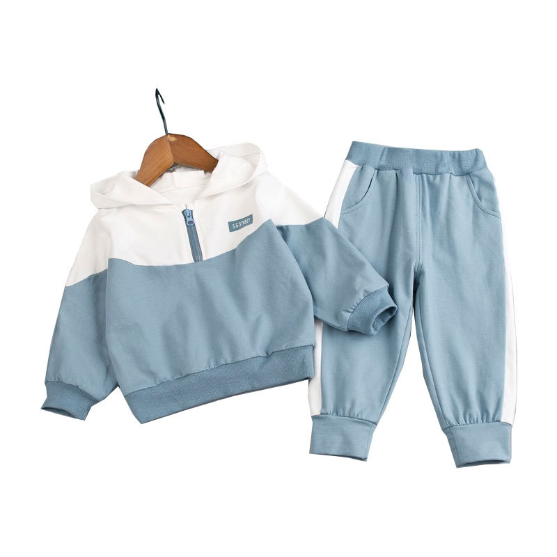 運動風 配色 コットン トップス パンツ セットアップ 男の子 子供服