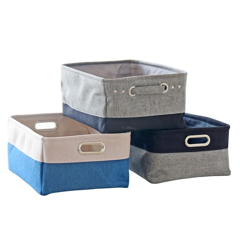 高級感溢れる♥ 自宅 綿麻  配色 切り替え 耐久性 カラーブロック 子供用品 収納 子供用品