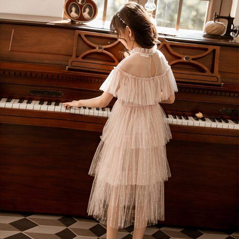 着心地抜群 エレガント✿  抜群の肌触り 肌に優しい ポリエステル 半袖 無地 ジュニア服 ワンピース 子供服