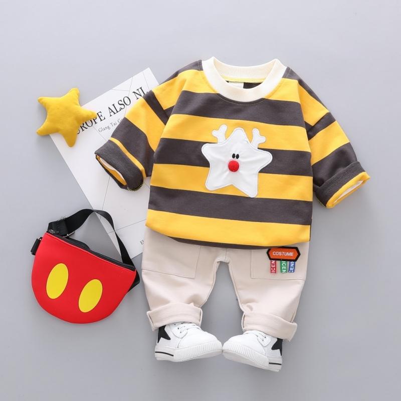 可愛い ストライプ 星 シャツ パンツ セットアップ 男の子 子供服
