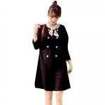 韓流スタイル♥ 無地 ダブルブレスト ワンピース マタニティ服・授乳服